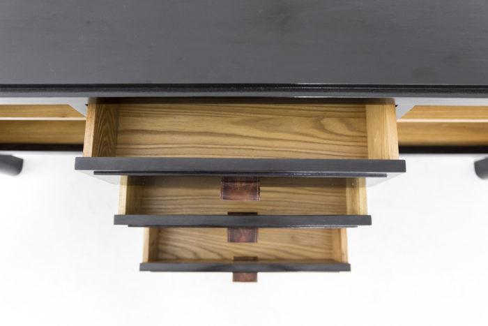 enfilade orme laqué noir tiroirs