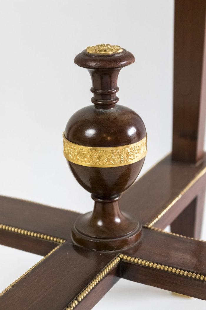 guéridon style empire acajou bronze doré vase