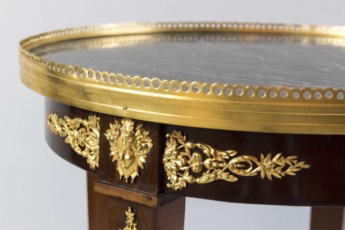 guéridon style empire bronze doré