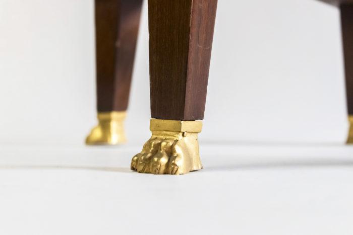 guéridon style empire bronze doré patte lion