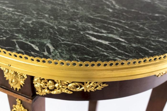 guéridon style empire gallerie bronze doré