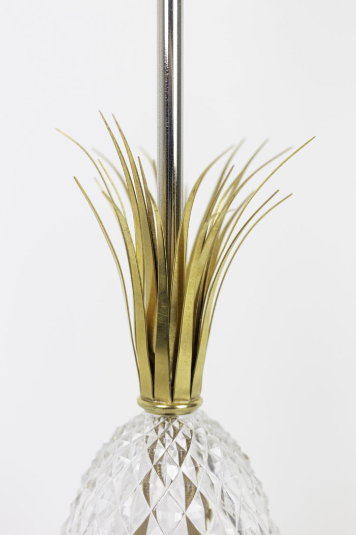 pineapple lamp crystal metal gilt leaves