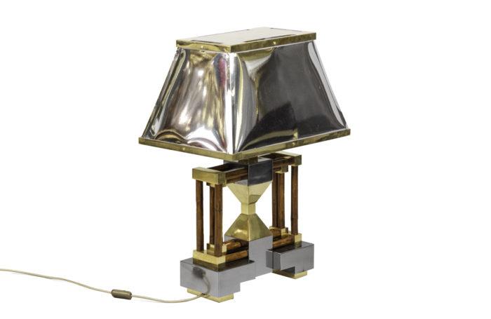 lampe bambou laiton argenté doré 1