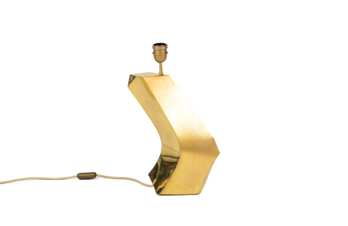 boomerang lamp gilt brass brushed