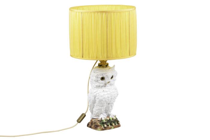 lampe hibou céramique