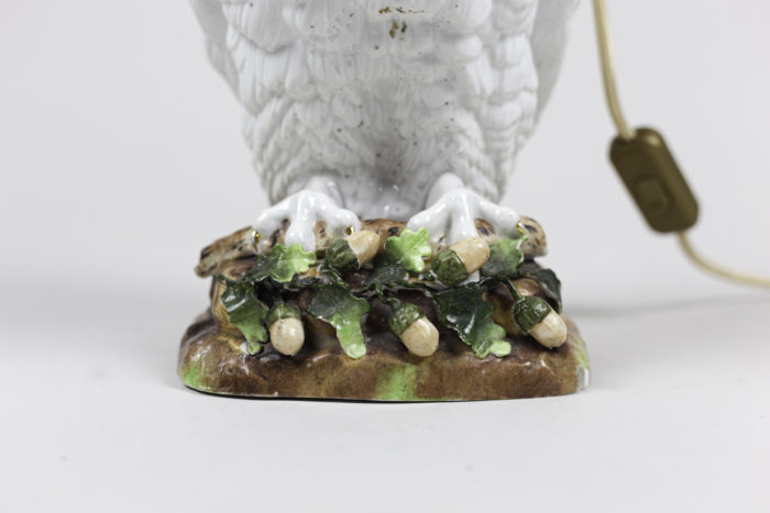 lampe hibou céramique base