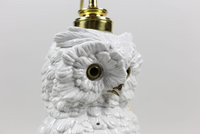 lampe hibou céramique tête
