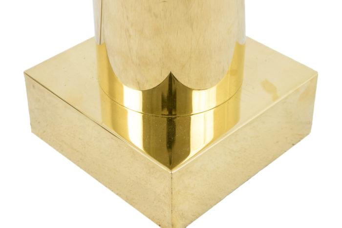lampe laiton doré base carrée