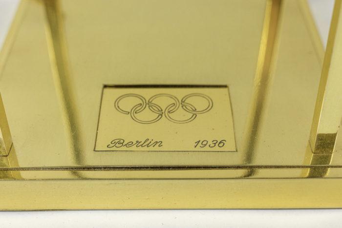 lampe laiton doré jo berlin 1936 plaque