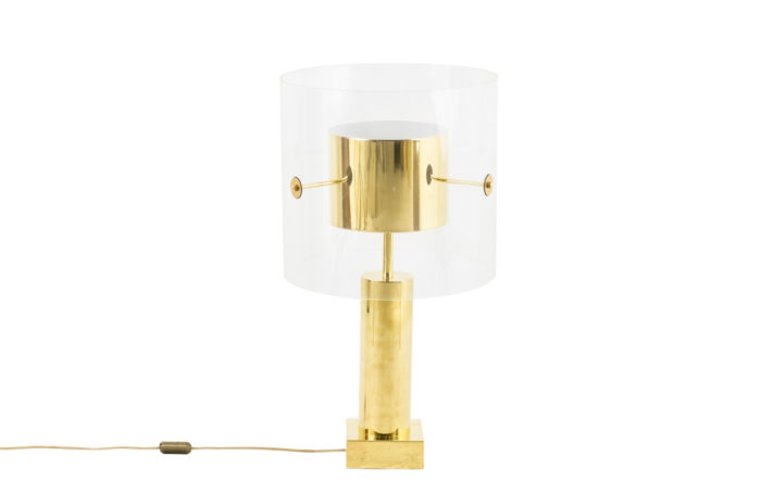 lamp gilt brass lucite