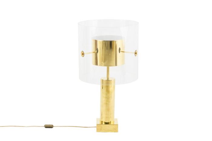 lampe laiton doré lucite