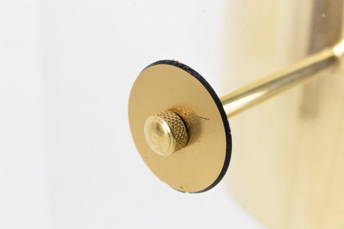 lampe laiton doré tige abat-jour
