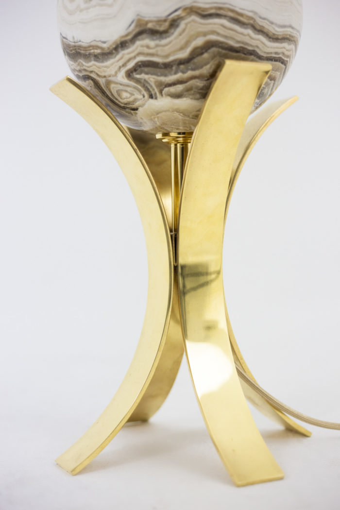 lampe sphère laiton doré lames concaves