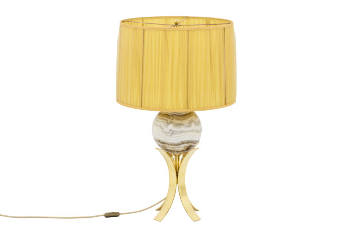 sphere lamp marble gilt brass