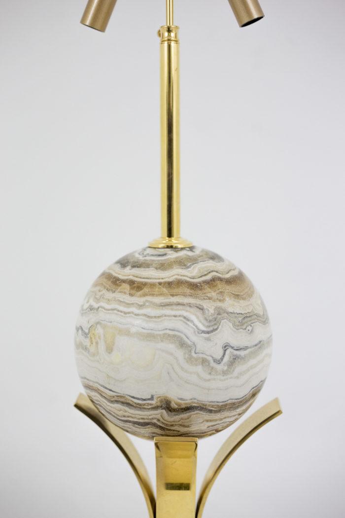 lampe sphère marbre marron blanc