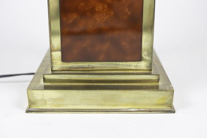 lampes bakélite laiton doré base