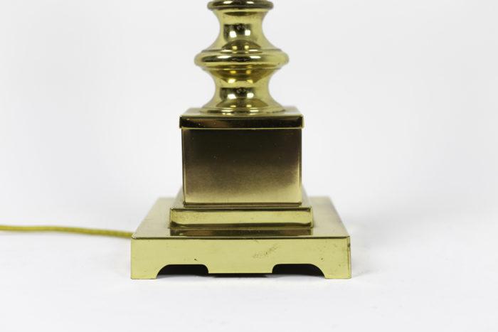 lampes colonnes bronze doré base