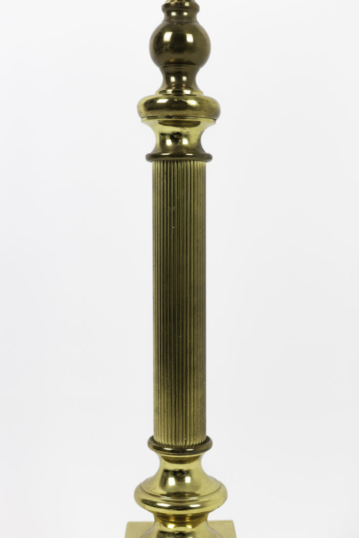lampes colonnes bronze doré cannelé