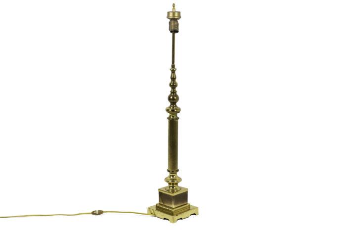 lampes colonnes bronze doré side