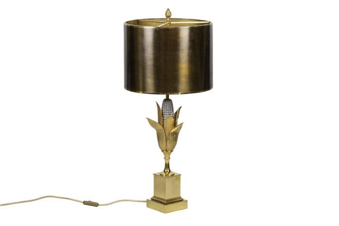 maison charles lampe épi de maïs bronze doré