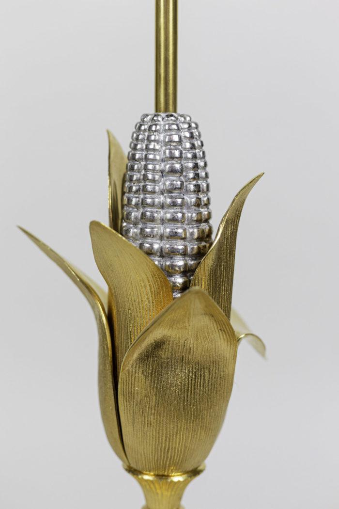 maison charles lampe épi de maïs bronze doré argenté
