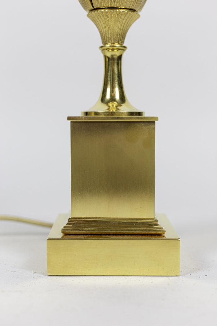 maison charles lampe épi de maïs bronze doré base