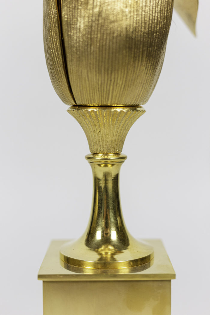 maison charles lampe épi de maïs bronze doré détail