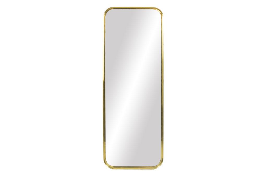 Miroir rectangulaire en laiton doré, années 1970