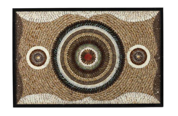 panneau décoratif ailes de papillon travail africain