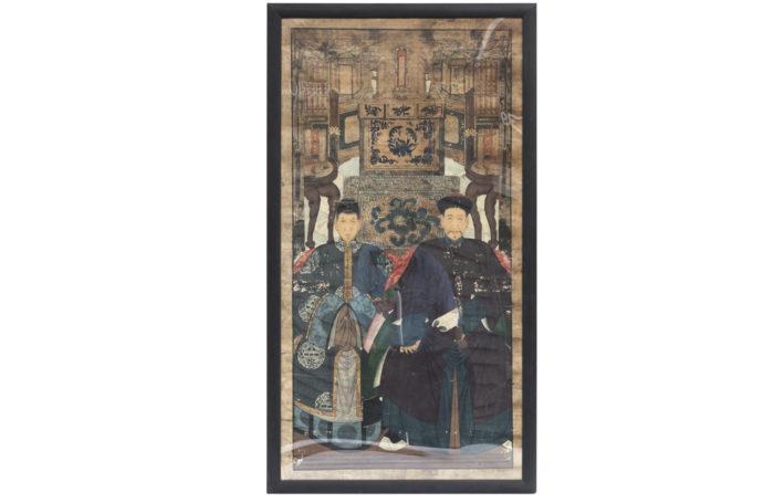 silk painting chinese dignitaries