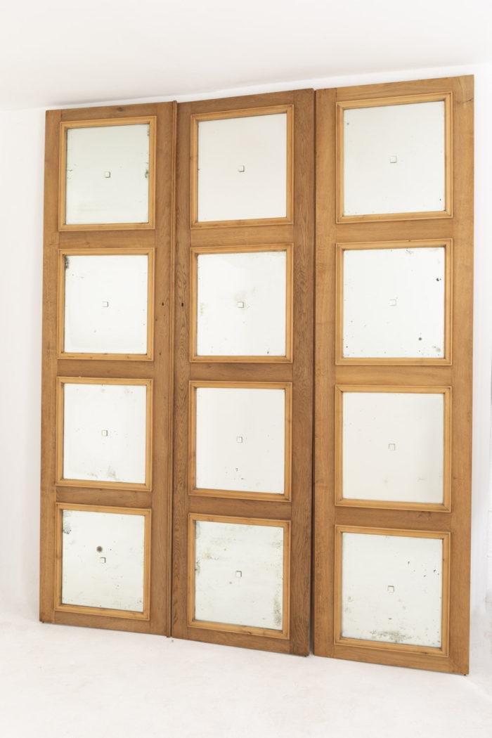 portes chêne miroir