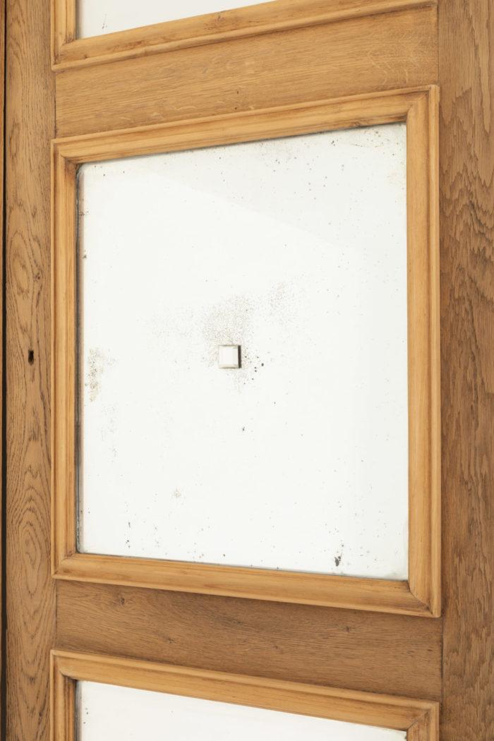 portes chêne miroir cabochon