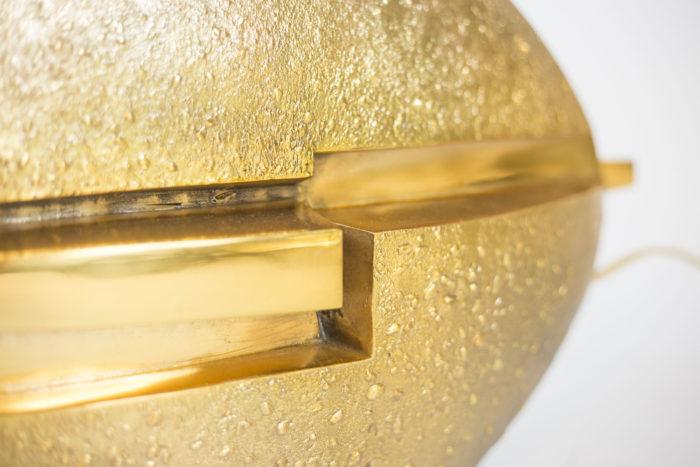 pragos lampe bronze doré détail