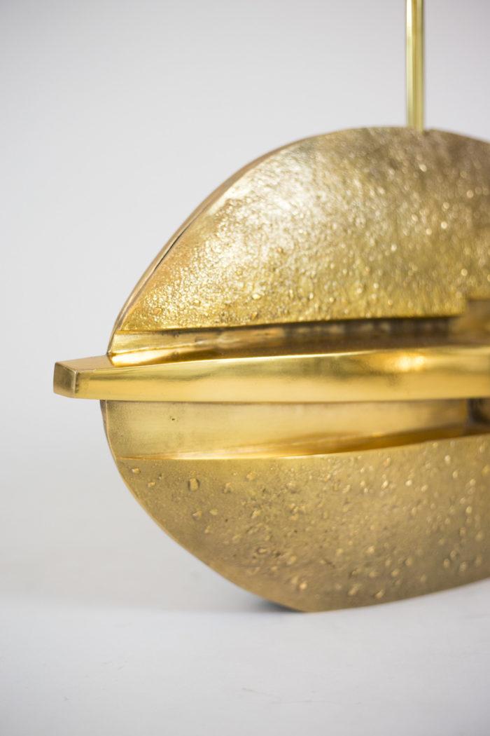 pragos lampe bronze doré surface lisse