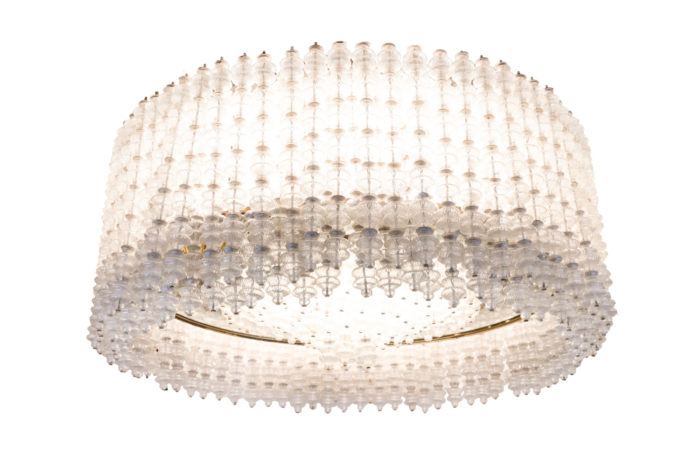 seguso chandelier murano glass 1950's