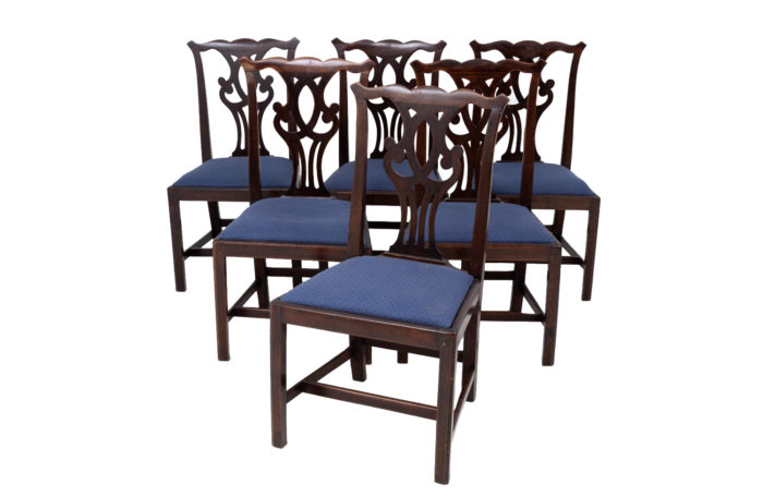 six chippendale chairs mahogany