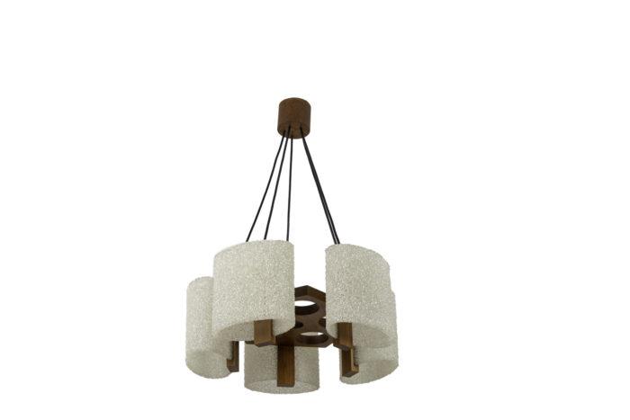 suspension résine granitée bois 2