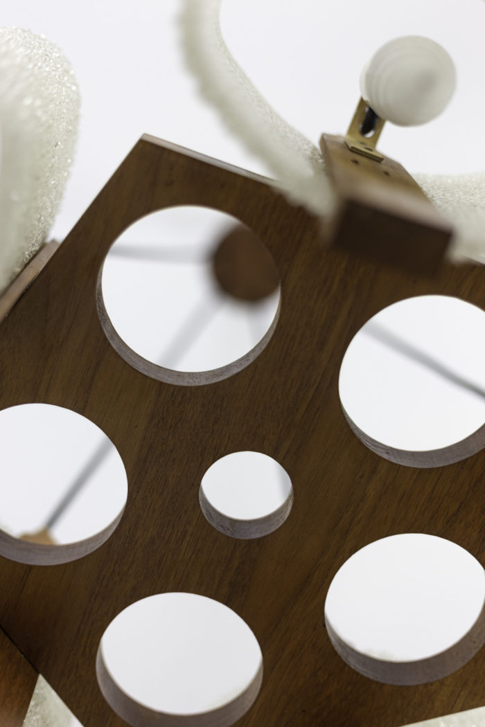 suspension résine granitée bois pentagone