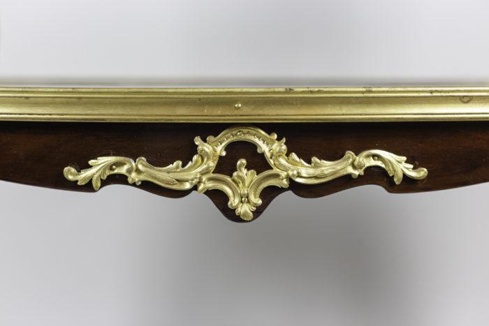 table à thé style louis xv acajou bronze doré ceinture 2