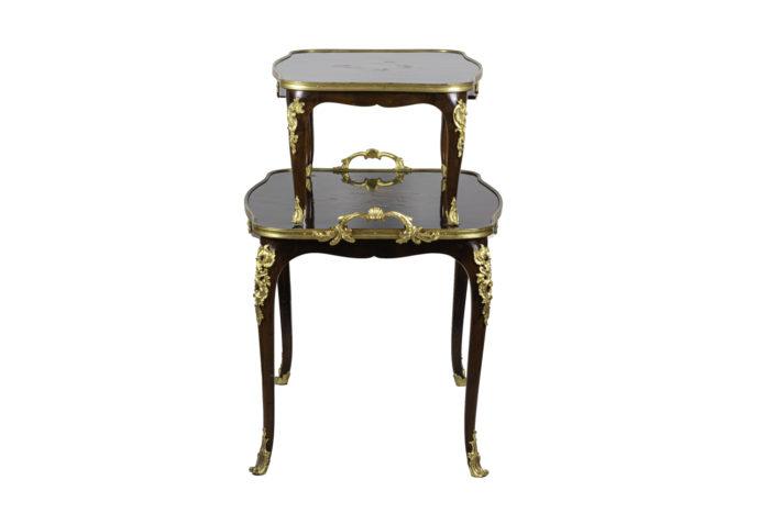 table à thé style louis xv acajou bronze doré side