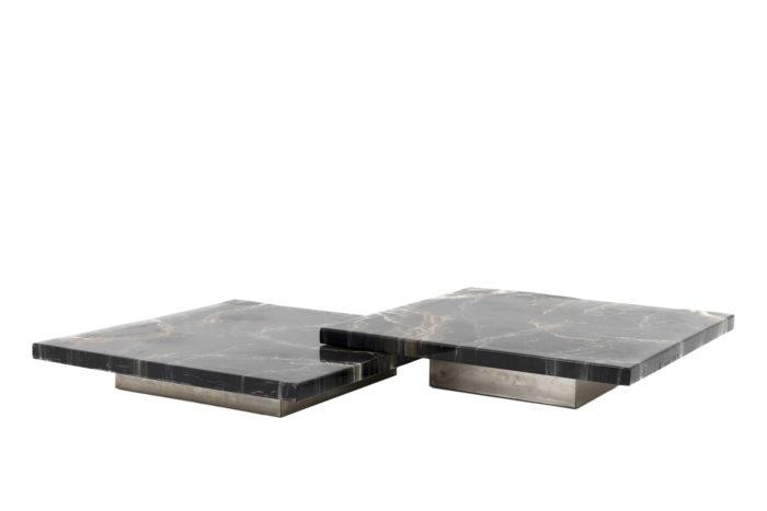 table basse bakélite métal chromé