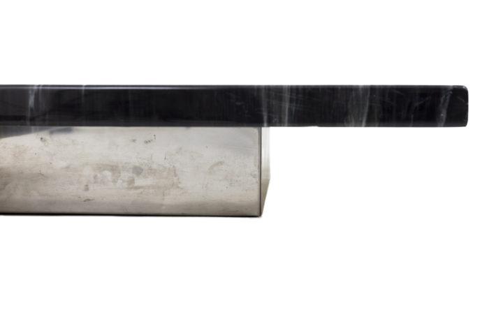 table basse bakélite métal chromé base