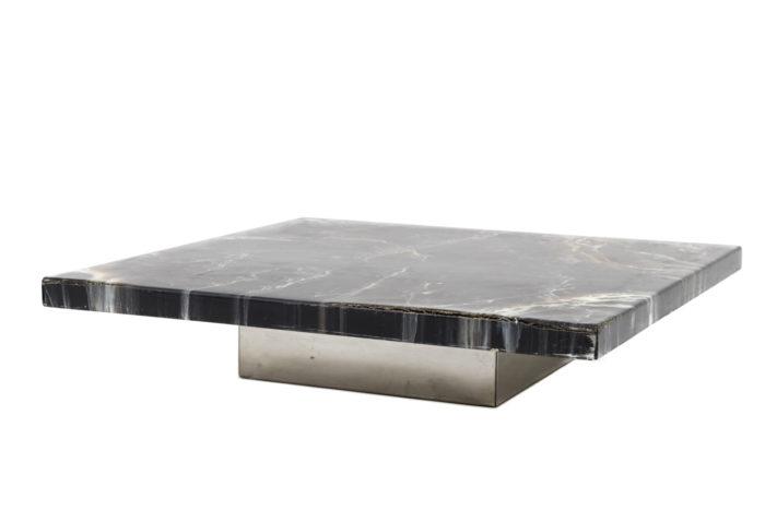 table basse bakélite métal chromé modulable