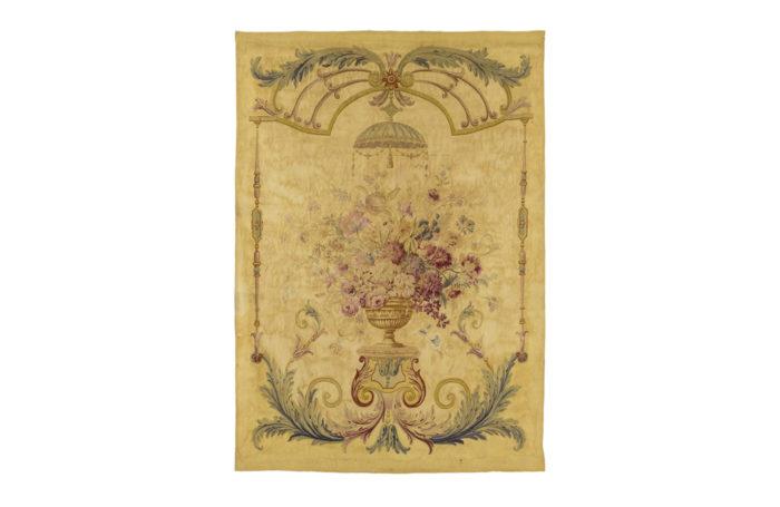 tapisserie aubusson vase de fleurs