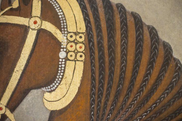 toile cheval crinière tresse