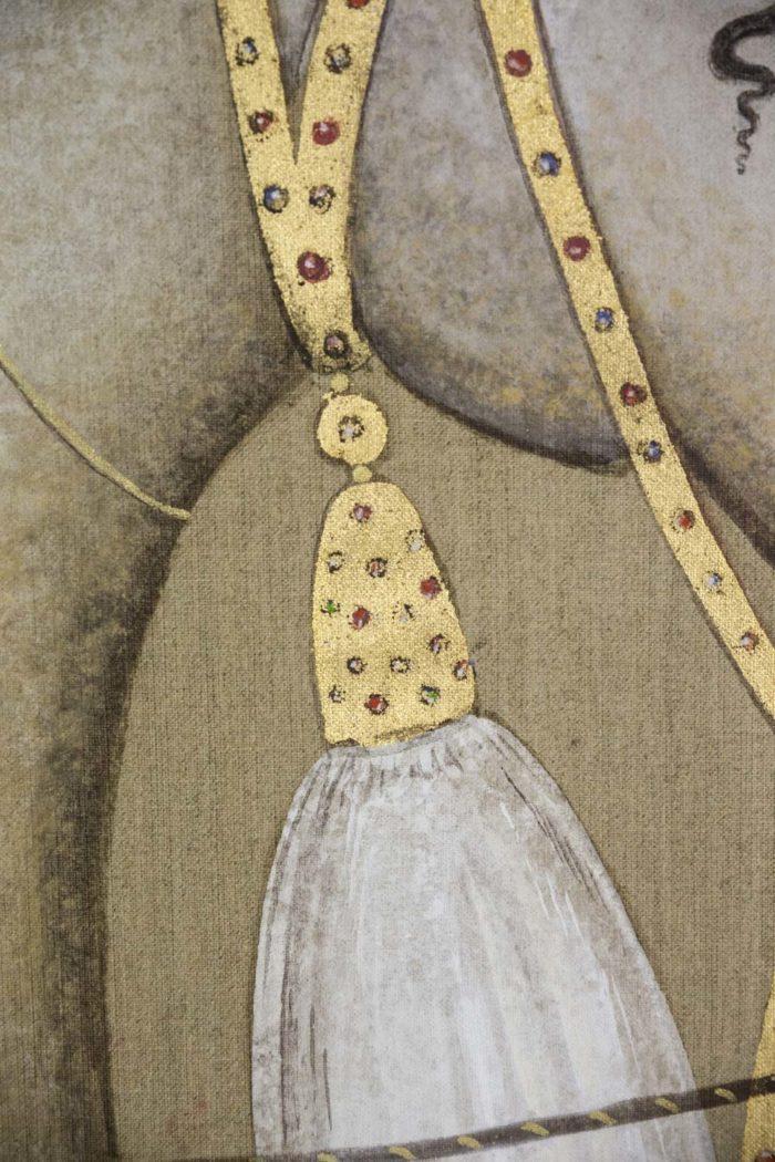 canvas horse arabian harness