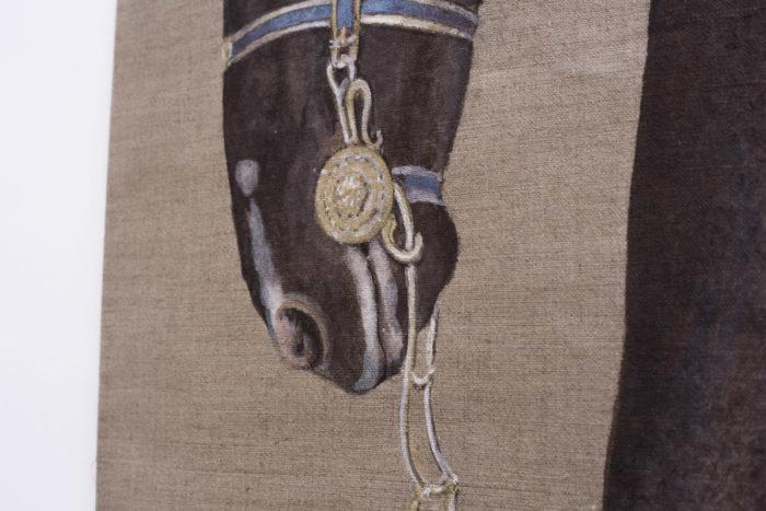 toile cheval lusitanien noir harnais