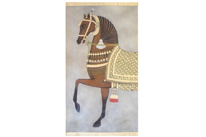 toile cheval marron