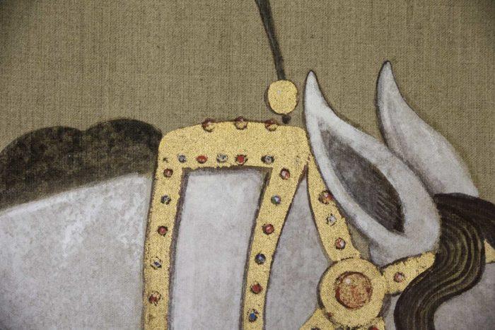 canvas horse ears