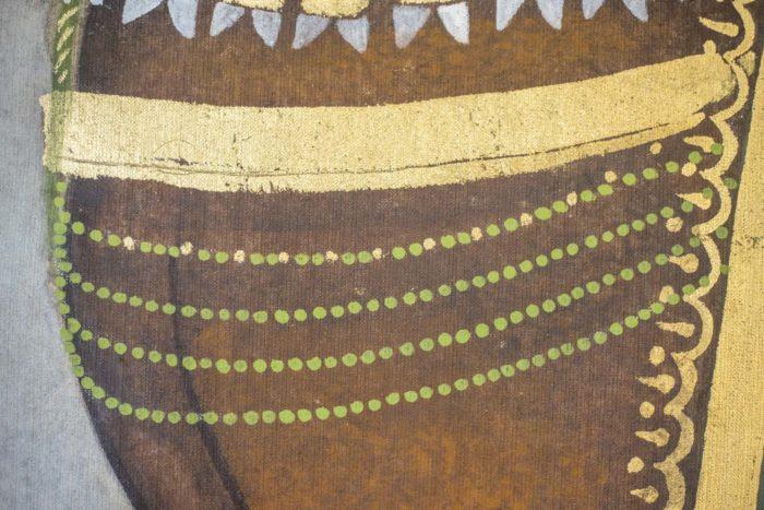 toile cheval perles vertes